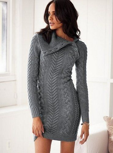 Idea to knit a cable dress