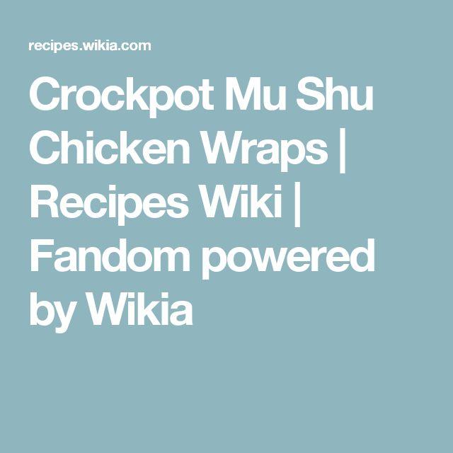 Crockpot Mu Shu Chicken Wraps | Recipes Wiki | Fandom powered by Wikia