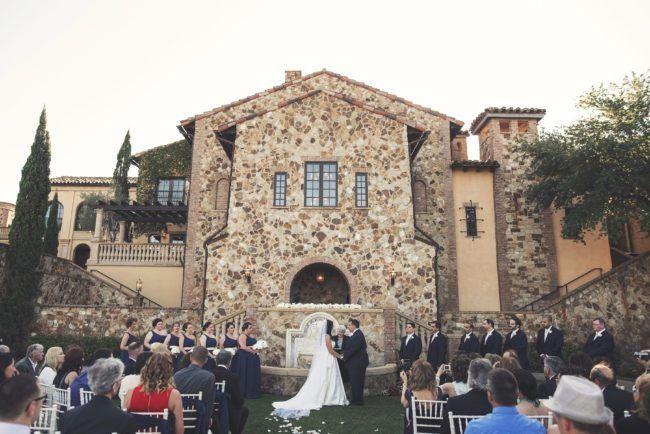 Bella Collina Ceremony | Glamorous Glitter Wedding at Bella Collina in Montverde, FL. Orlando wedding planner designed glitter wedding. Full Service Wedding Planner. | Photo by KV Photography