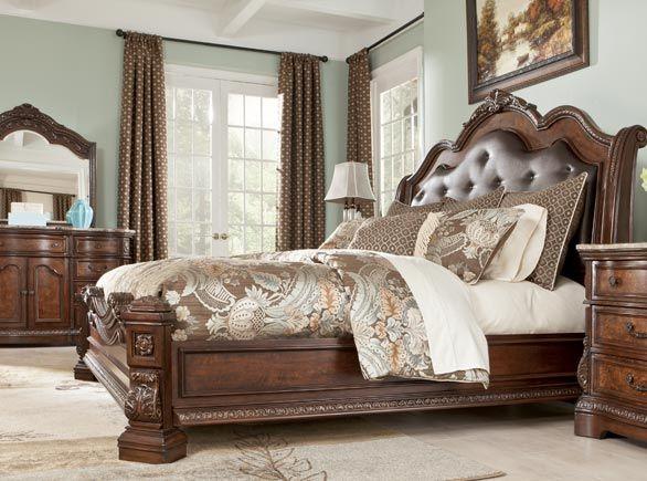 25 best ideas about ashley furniture showroom on pinterest ashleys furniture living room for Ashton castle bedroom set by ashley
