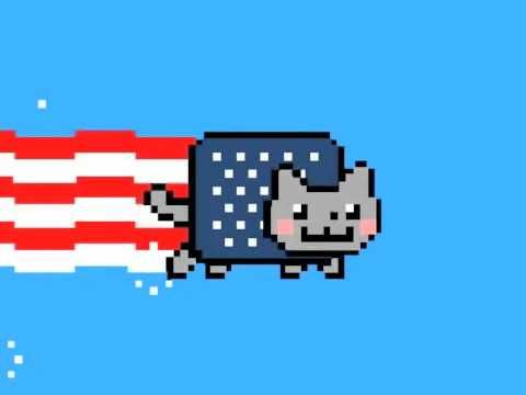 Americ-Nyan Cat, A Patriotic Version of Nyan Cat For The 4th of July  By Scott Beale on July 4, 2011    Americ-NYAN Cat,