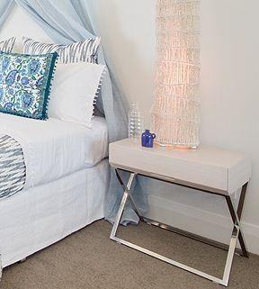 Scissor Leg Bedside Table - In 4 Colours   Complete Pad