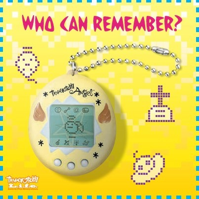 The Japanese Tamagotchi toys usually feature a ghost and headstone when the pet dies, but English versions have been changed to show an angel at death, or simply a floating UFO to indicate its return to its home planet. Who can remember how to reset the game once the pet dies?
