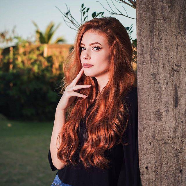 A linda da @biancasantiago ✨ (Majirel 7.4 + Ox30) #ruivo #ruiva #redhair #ruivosdobrasil