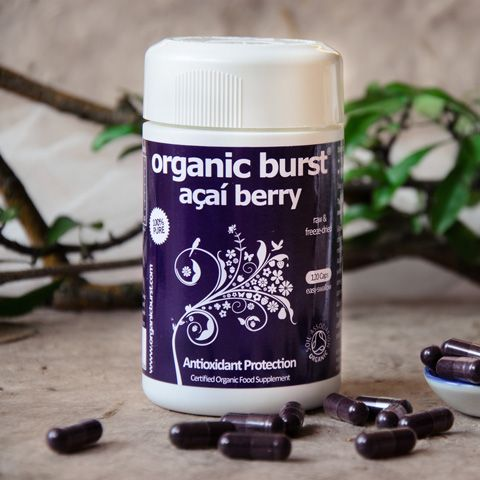 Organic Burst® Acai Berry - Acai is an amazing Amazonian super-berry from Brazil, great for your daily beauty and fitness regime. Organic Burst Acai capsules are completely pure and free from additives. We freeze-dry the acai pulp as soon as the berries are picked locally in Brazil to preserve all the goodness.