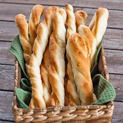 Twisted Parmesan Breadsticks - homemade breadsticks in under an hour