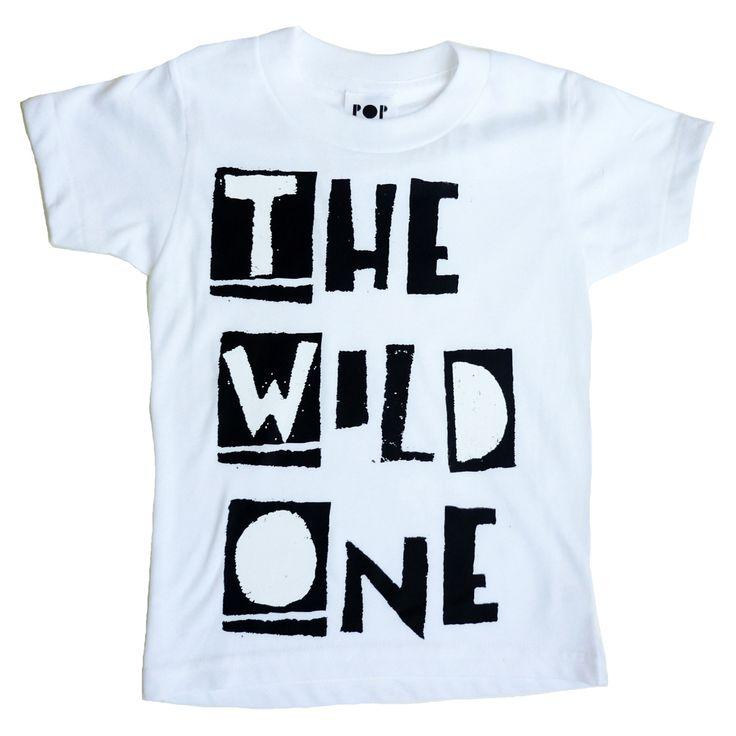Cool Kids wear Pop Kids! http://popkidsusa.bigcartel.com/product/the-wild-one-white-short-sleeve-tee