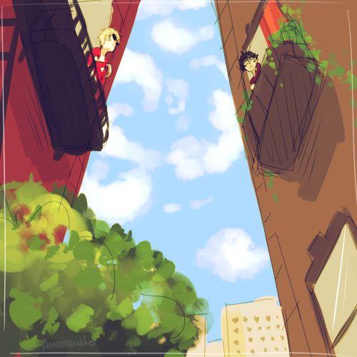 Dave and Karkat living by each other would be insane XD their poor neighbors