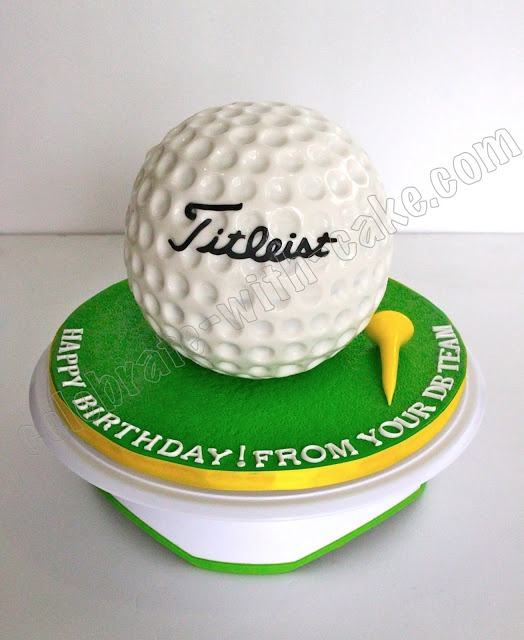 Celebrate with Cake!: Golf Ball Cake