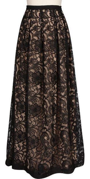 Majestic Lace Maxi Skirt