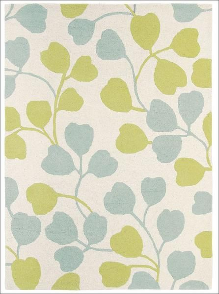 For a luxurious wool rug in pastel patterns, look no further than the Sanderson Home Asta Eggshell Green 23607 Designer Rug