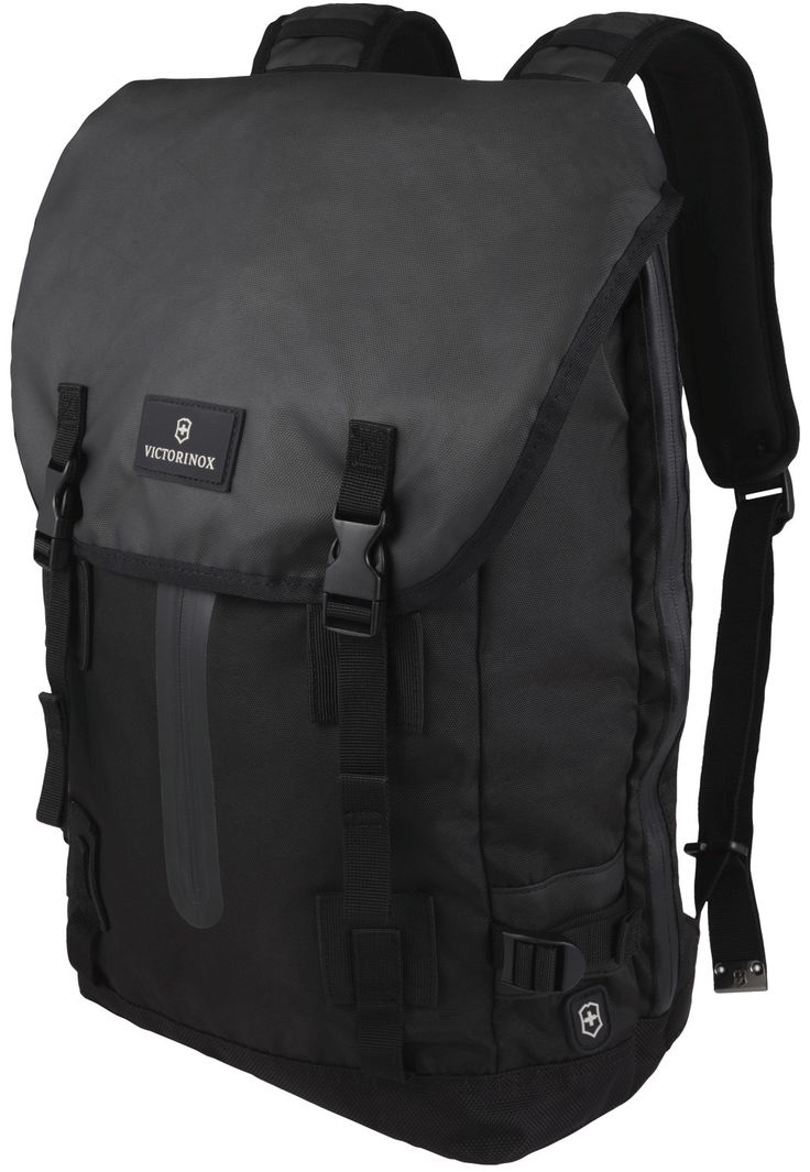 Flapover Drawstring Laptop Backpack by Victorinox Travel Gear, the Makers of the Original Swiss Army Knife