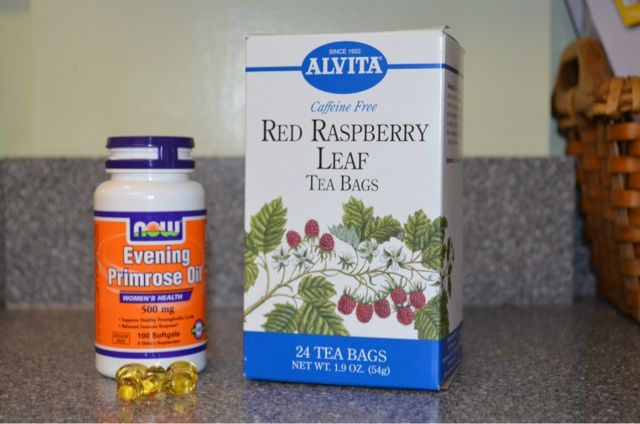 Natural ways to help make labor productive - Red Raspberry Leaf Tea and Evening Primrose Oil