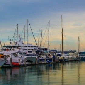 Evening by the Marina