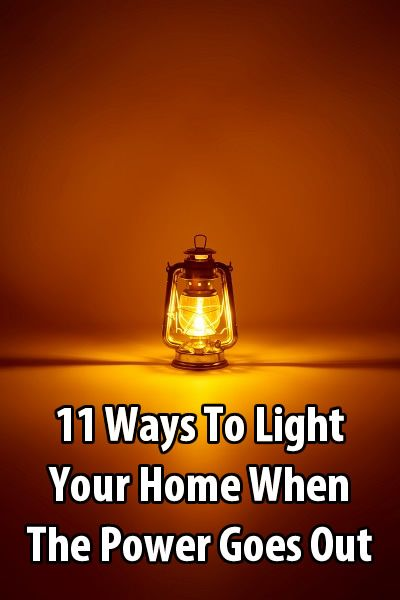 During a power outage, most people use flashlights and candles, but there are other options. Here are 11 ways to light your home when the power goes out.