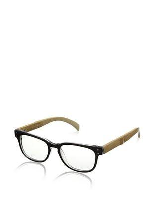 72% OFF Ivory + Mason Men's Bluebird Eyeglasses, Black Crystal/Bamboo