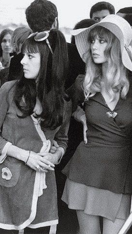 Maureen Cox-Starkey and Pattie Boys-Harrison (Beatles wives in style)