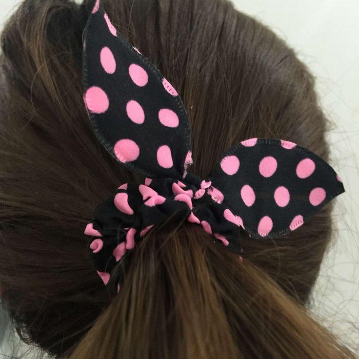 Gum for girl Cute Bunny Baby Girl Flower Hair Clip Hairbands Rabbit Ears Headwear Elastic Hair Band Hair Rope Hair Accessories