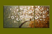 3 adet modern tuval duvar sanatı triptik muti soyut tavuskuşu ağacı yağlıboya tuval oturma odası yatak odası dekorasyon(China (Mainland))