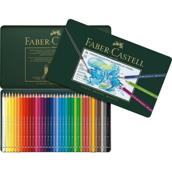 117536 Faber Castell Tin Of 36 Watercolour Pencils Albrecht D Rer