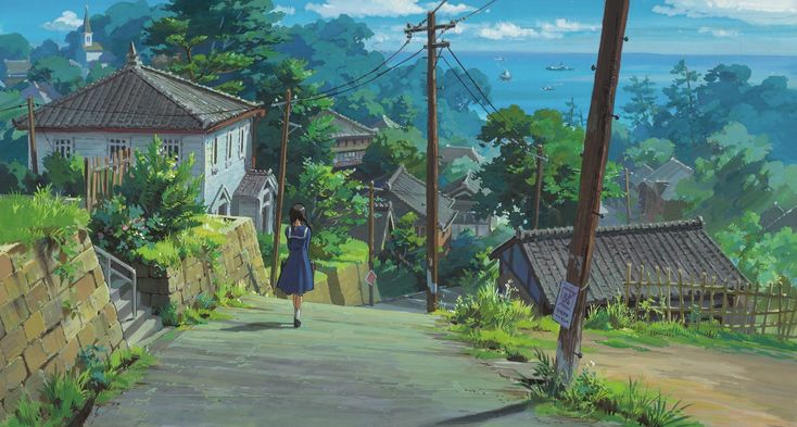 """From Up on Poppy Hill コクリコ坂から"" Promotional Art 