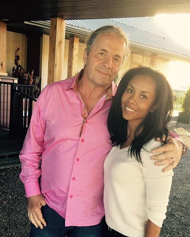 """#Happy Valentine's Day to my beautiful wife Stephanie. I can't find the words to express just how much I adore you and I don't know where I'd be without you. Thank you for being at my side this past eight years, especially 2016. I love you. ❤️ #valentines"""" - WWE Hall of Fame legend Bret """"The Hitman"""" Hart #WWE #love #wmbw #bwwm #swirl"""