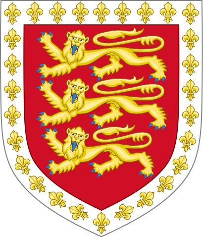 Arms of John Holland, 1st Duke of Exeter.svg