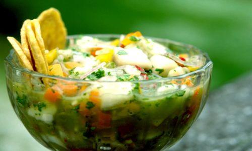 Al estilo chileno: ceviche de pescado