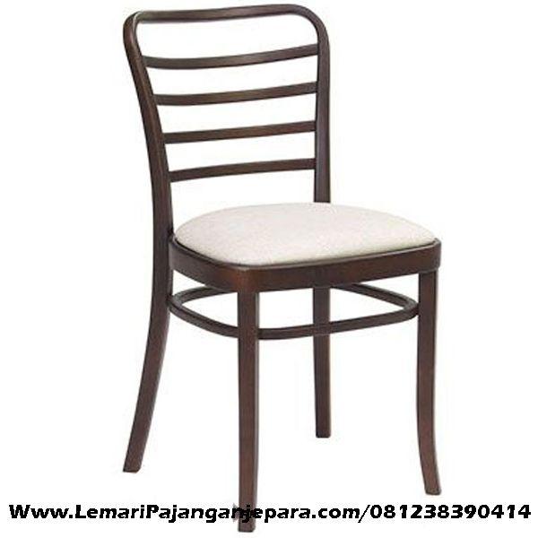 Jual Kursi Makan Jock Putih Sandaran Lengkung desain Kursi Makan yang nyaman dengan menggunakan kayu jati solid, model lain Kursi Makan Cafe Minimalis