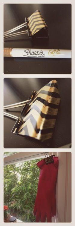 DIY: Decorated binder clip.
