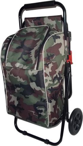 Sit&Go Camouflage Shopping Trolley - with seat for the fishing brigade!