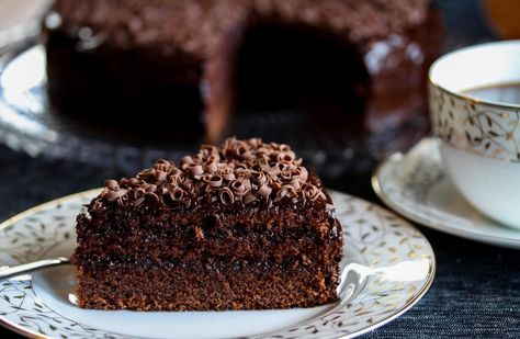 Mørk sjokoladekake med sjokoladekrem