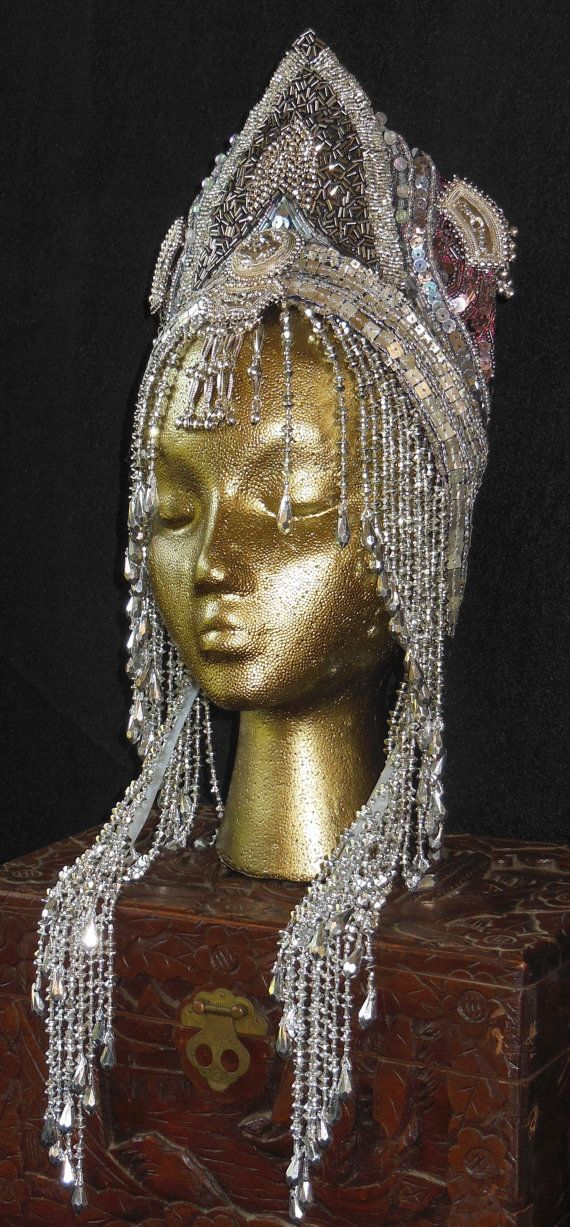 Silver goddess Fantasy Queen Cleopatra Ice Princess by MIMSYCROWNS, $225.00