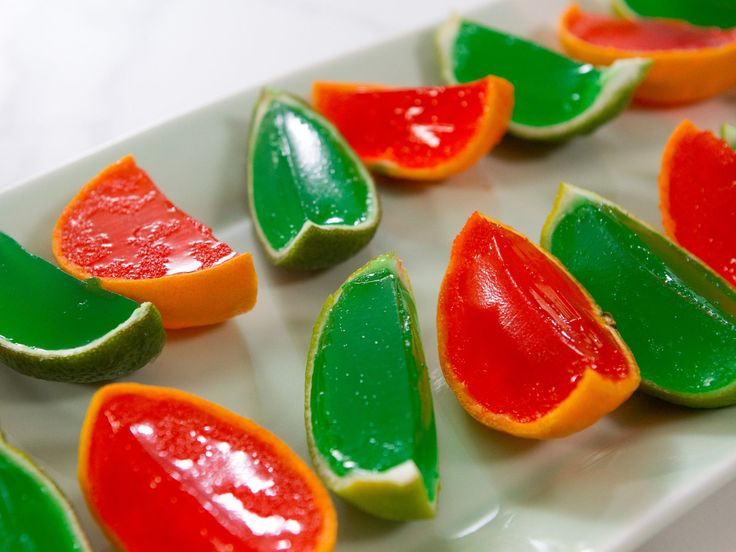 Lime Wedge Gelatin Shots : When the old-school gelatin shots you know and (perhaps don't) love just won't do anymore, look to these too-cute cocktail bites to transform your party. The vodka-spiked gelatin is chilled right in the hollowed-out lime.