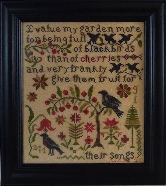 Blackbird designs edderbrodereme pinterest korssting for Christmas garden blackbird designs