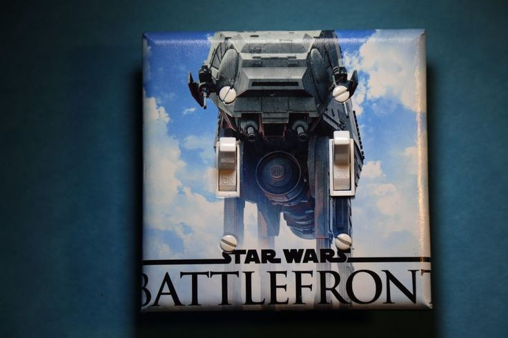 Details about Star Wars Battlefront Video Game Double Light Switch gamer room decor ps4 xbox 1