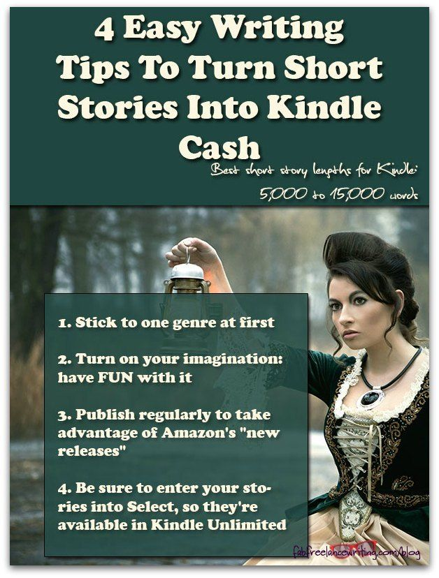 4 Easy Writing Tips To Turn Short Stories Into Kindle Cash http://www.fabfreelancewriting.com/blog/2015/04/30/4-easy-writing-tips-to-turn-short-stories-into-kindle-cash/?utm_campaign=coschedule&utm_source=pinterest&utm_medium=Angela%20Booth&utm_content=4%20Easy%20Writing%20Tips%20To%20Turn%20Short%20Stories%20Into%20Kindle%20Cash