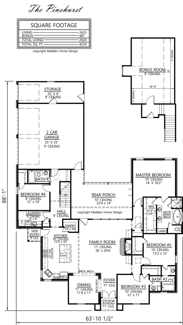 Madden home design the pinehurst love be that the for Madden house plans