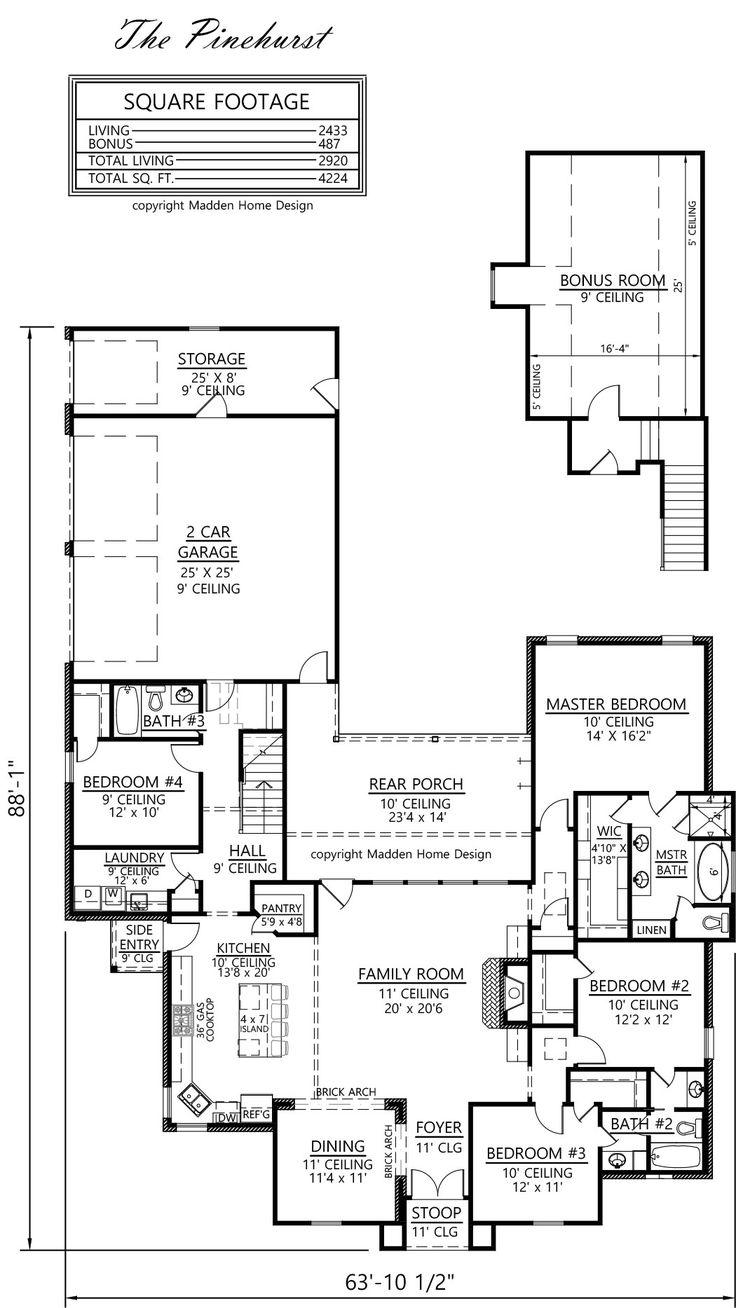 Madden home design the pinehurst love be that the for Madden house plans