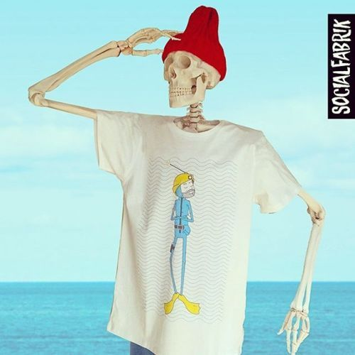 Exclusive #stevezissou inspired tee art by @derek_eads now in-store at socialfabrik.co.uk #socialfabrik #manchester #thelifeaquatic #wesanderson #billmurray #tshirt #streetwear #streetfashion #fashion #illustration #derekeads #scuba
