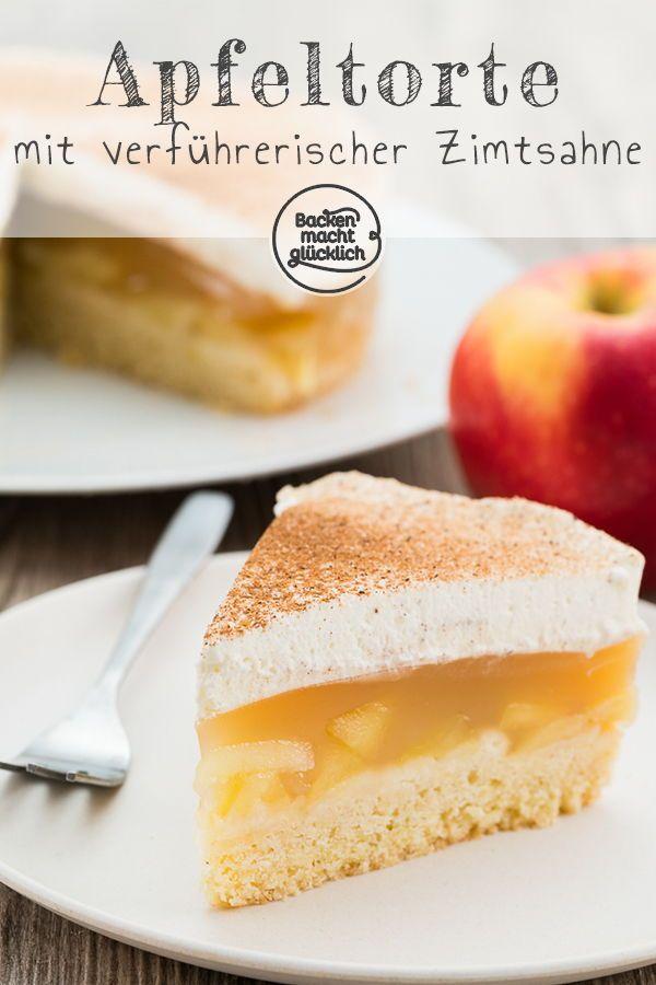 Apfel Sahne Torte Mit Pudding Rezept Kuchen Rezepte Pinterest