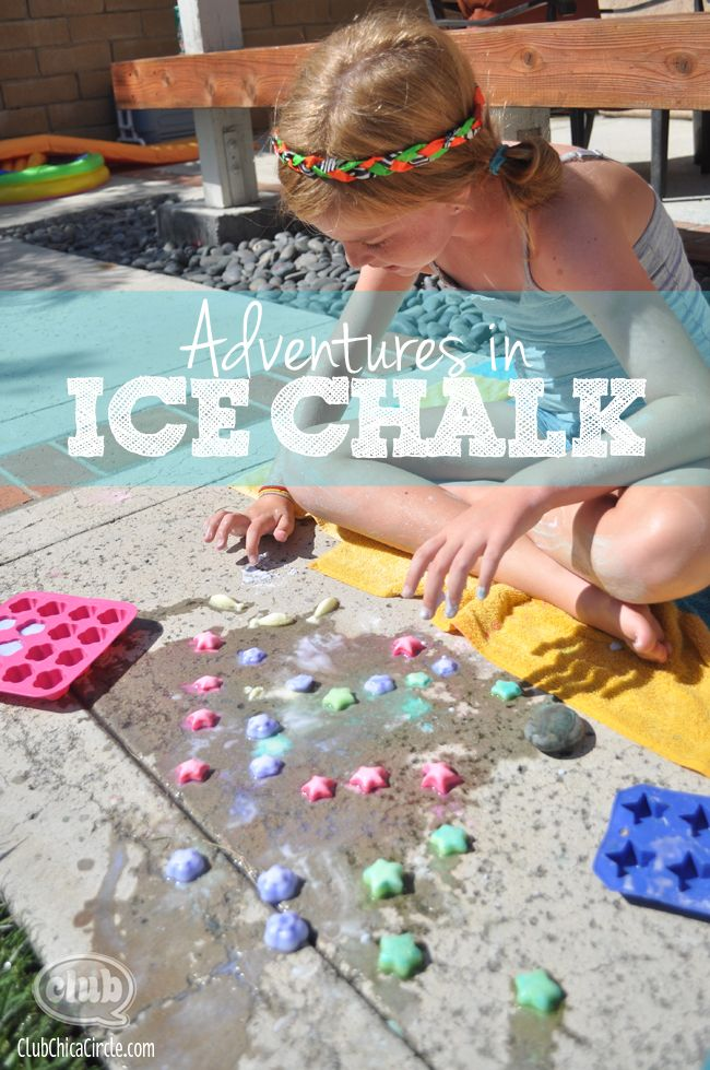 ice chalk craft idea for kidsn @clubchicacircle