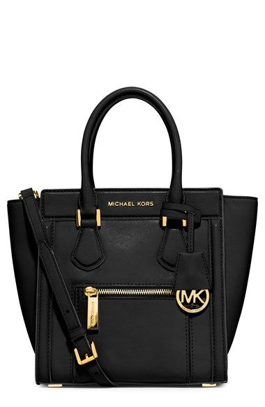 MICHAEL KORS Colette Medium Satchel Messenger Bag Navy Blue NWT