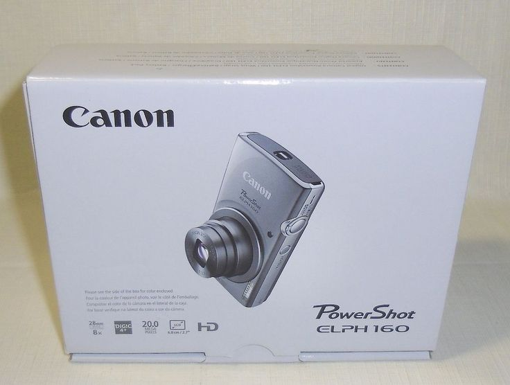New Canon PowerShot ELPH 160 20.0 MP 8x Optical Zoom Smart Digital Camera Silver | Cameras & Photo, Digital Cameras | eBay!