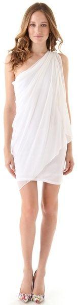Alice + olivia Chiffon One Shoulder Drape Dress for a Greek Goddess look