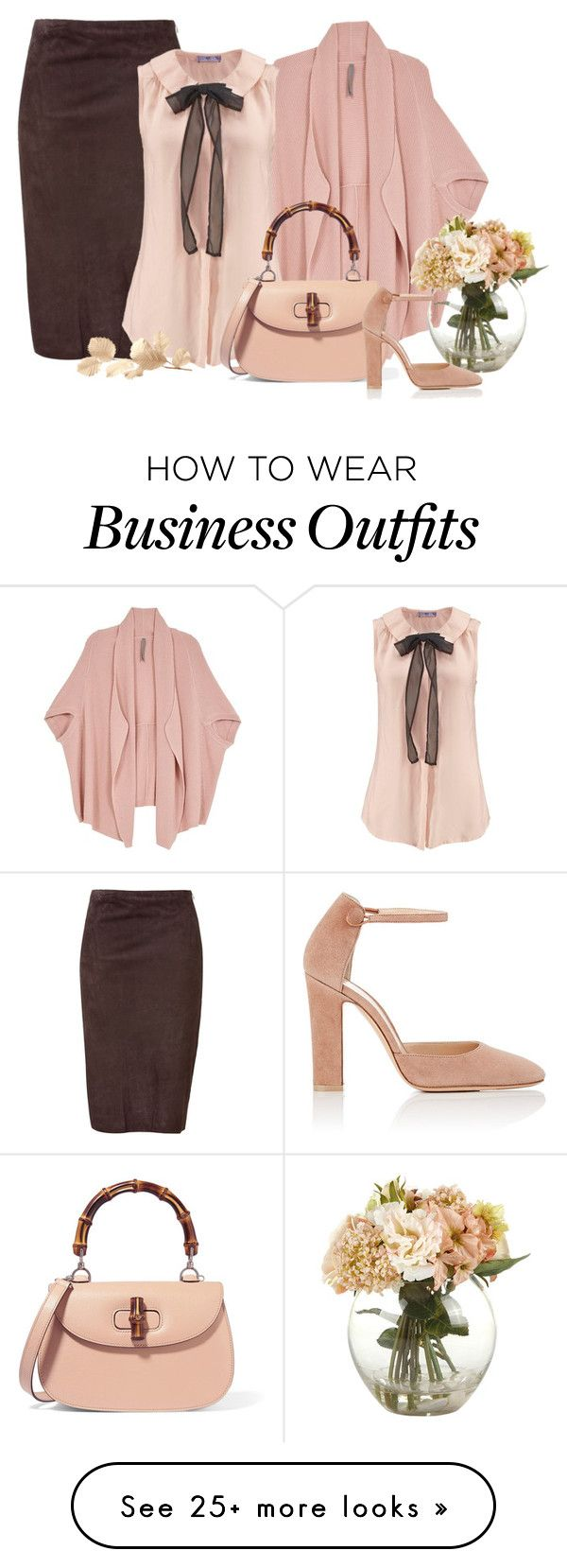 """peach work wear"" by rvazquez on Polyvore featuring Ralph Lauren Black Label, Melissa McCarthy Seven7, Gucci, Gianvito Rossi and plus size clothing"