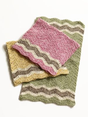 Free Crochet Pattern: Cottontail Dishtowels  nice colors