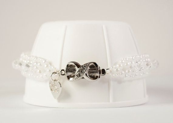 Favourite piece from my new collection. White Swarovski Crystal  Kisses and Bow by She nWong Jewellery, €65.