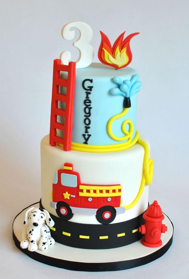 Die besten 25 Feuerwehrwagen kuchen Ideen auf Pinterest  Feuer kuchen Fireman sam