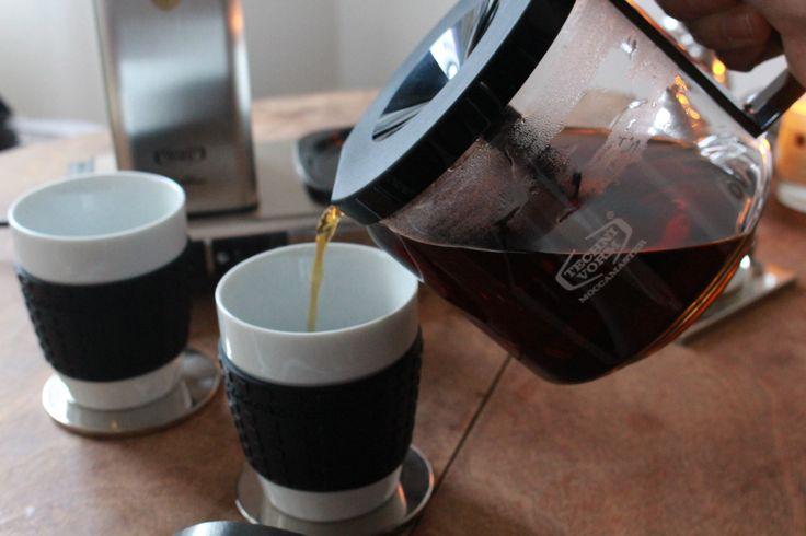 Die Warmhalteplatte hält den Kaffee 40 Minuten auf 80–85 Grad